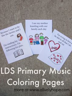A Lively Hope: Six LDS Primary Music Leader Flipcharts (for Scripture Power, Keep the Commandments, Love is Spoken Here, My Heavenly Father Loves Me, I Know That My Redeemer Lives, We'll Bring the World His Truth)