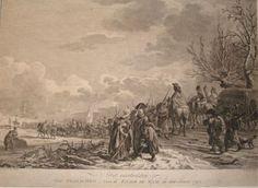 overtocht Fransen over de Waal in 1794. Gravure, D. Langendijk, 1795-1803.