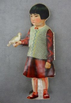 Mariko Kusumoto   Girl Pencil Case   Hand fabricated brass, silver, decals