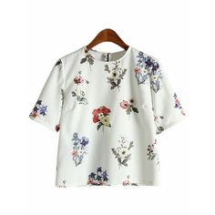 Dot fashion Vintage Back Floral Print Tops Summer Style Casual Woman New Arrivals Ladies White Short Sleeve Blouse