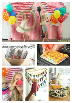 Recipes for a Junk Food Free Birthday and DYI Circus Party!
