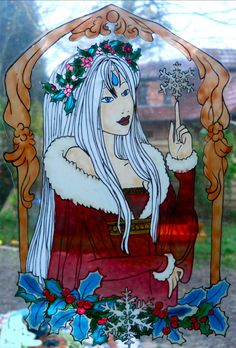 wicoart HANDMADE STAINED GLASS EFFECT WINDOW CLING EASY TO APPLY AND TO REMOVE HAND PAINTED WITH GALLERY GLASS AND GLASS PAINT PEBEO ON AN ELECTROSTATIC VINYL SHEET ONE OF A KIND OOAK