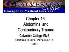 ch16  by rprue via authorSTREAM Emergency Medical Services, Power Points, Chapter 16, Critical Care, Galveston, Trauma, Presentation, Education, Onderwijs