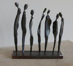 Human Sculpture, Sculptures Céramiques, Art Sculpture, Abstract Sculpture, Ceramic Figures, Ceramic Art, Line Art Lesson, Art Amour, Ceramic Sculpture Figurative