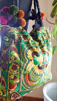 Ethnic handmade bag vintage style work by shopthailand on Etsy