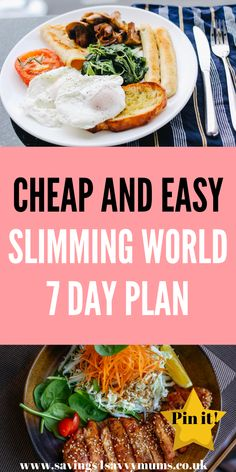 Slimming World Quick Meals, Slimming World Diet Plan, Slimming World Recipes Syn Free, Slimming Eats, Slimmimg World, Weekly Dinner Menu, Sw Meals, Easy Meal Plans, Healthy Recipes