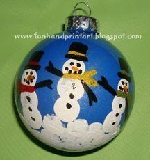 I want to start a Christmas tradition of always making a keepsake ornament for our Christmas tree every year. This year I made a Snowman Family Ornament using our fingerprints. I started with a clear ball ornament but of course any ornament would do. One snowman is made with my my husband's thumbprints/fingerprints, one with...