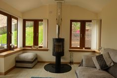 Brechin Tiled Sunroom with Log Burning Stove