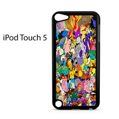 All Pokemon Generation College Ipod Touch 5 Case