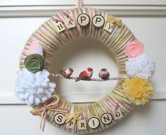 Spring Yarn Wreath | Recent Photos The Commons Getty Collection Galleries World Map App ...