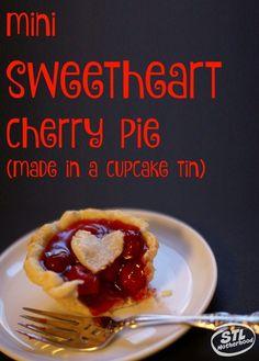 mini sweetheart cherry pie by stlmotherhood