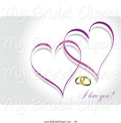 Images For Purple Interlocking Hearts Clip Art