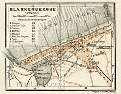Blankenberge city map 1909