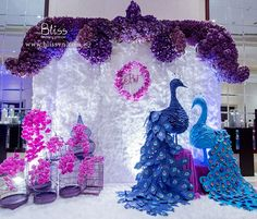 Peacock Wedding by Bliss Wedding Planner Vietnam  #wedding #weddingplanner #peacockwedding #peacock #purplewedding #weddingideas #weddingdecor #weddingplannervietnam #vietnamweddingplanner #weddingplannerhcm #weddingplannersaigon
