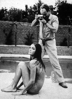 Marisa Mell & Michelangelo Antonioni