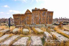 Noratus Cemetery in Sevan, Armenia