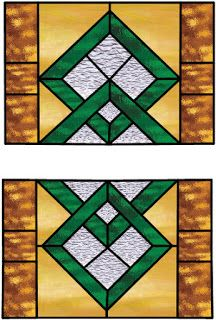 Boehm Stained Glass Blog: Geometric bath windows - Pattern to Installation