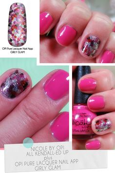 Nicole by OPI color plus OPI Pure Lacquer Nail Apps in Girly Glam #manicures #nails #beauty