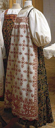 The Sarafan, a garment that has become a symbol of Russia despite only being a couple hundred years old and most likely having its roots as a traditional Finnic costume. Can be worn unbelted or with a sash.