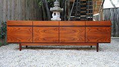 Danish Modern lb Kofod Larsen Rosewood Sideboard Credenza Cabinet Buffet Vintage | eBay