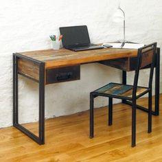 Baudouin Shabby Chic Vintage Reclaimed Lumber Computer Desk / Dressing Table by Bonsoni by Bonsoni on Etsy