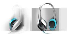Headphones by Florian QUERTINMONT, via Behance