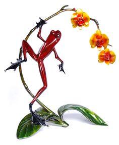 The Frogman bronze sculptures.  Amazing!