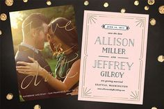 """love the overlay on the picture """"save our date"""" and the details would go on the back of a postcard format"""