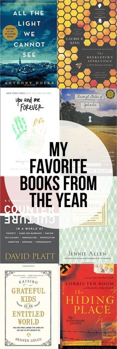 My Favorite Books I Read in 2016 - Christian Living, Homeschooling, Fiction, Minimalism and more!
