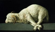 Giclee Print: Agnus Dei (The Lamb of God), by Francisco de Zurbaran : Litany Of Humility, Ciel Nocturne, Catholic Company, Classic Paintings, Art Paintings, Chiaroscuro, Art Abstrait, Rembrandt, Oeuvre D'art