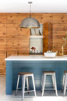 KITCHEN APPLIANCE GARAGE Textural. Airy. Minimal. Home Interior, Kitchen Interior, Kitchen Decor, Interior Design, Eclectic Design, Wooden Kitchen, Interior Architecture, Mid Century Modern Kitchen, Mid Century Modern Decor