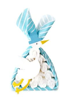 Blue Stork Bundle Centerpiece