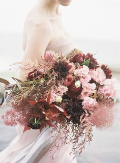 Dusty rose inspired wedding bouquet