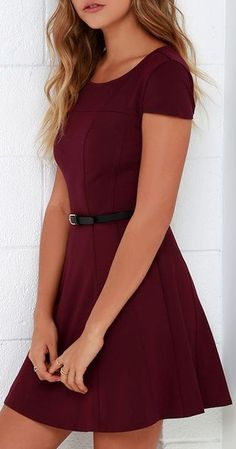 Lingering Kiss Burgundy Dress