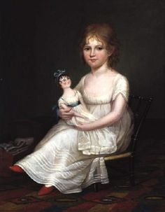 """Girl with a Doll"" by James Peale (1804)"