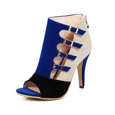 GTIME Women High Heels Shoes Buckle Zipper Peep-toe Sandals -- You can get more details by clicking on the image.