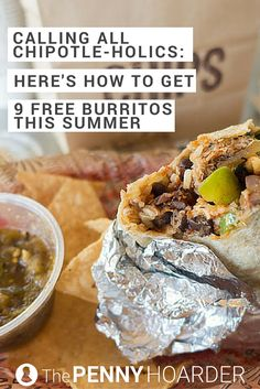 Want more FREE Chipotle burritos? Then you need to check out the eatery's brand-new summer rewards program... - The Penny Hoarder http://www.thepennyhoarder.com/free-chipotle-burritos-chiptopia/