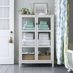 Kraal White Cabinet | Crate and Barrel