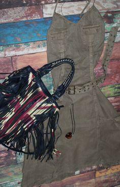 Desigual khaki Lagenlook dress - brand new with tags. Size 12. Find on on eBay - aragornswife Boho Festival, Dress Brands, Size 12, Brand New, Flat, Tags, Store, Dresses, Women