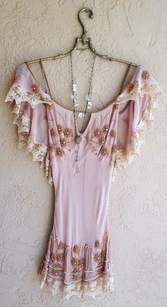 Great gatsby Beaded Bohemian silk tunic