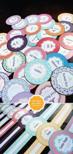 Free Printable Mason Jar Labels, including blanks. These are so pretty. #printables