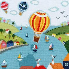 Balloons - Beside The Seaside Cross Stitch Kit from Bothy Threads