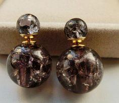 double sided pearl earrings ice sides earring tribal by tkggyve