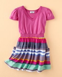 Little Striped Dress by Splendid... I hate pink but this is solo cute!!!!