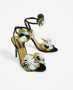 ZARA - WOMAN - HIGH HEEL SANDALS WITH FLORAL DETAILS