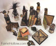 Our Favorite DIY Halloween Miniature Paper Decorations Halloween Shadow Box, Halloween Fairy, Halloween Books, Halloween Cards, Vintage Halloween, Fall Halloween, Barbie Halloween, Halloween House, Haunted Dollhouse