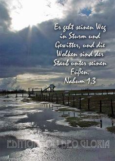 christliche Postkarte 3 - Nahum, Wetter - Bibel a la Carte - Christliche Karten