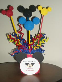 my first mickey mouse centerpiece