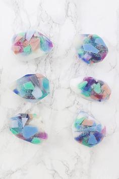 Gemstone Soap DIY (Two Ways!) | A Beautiful Mess | Bloglovin'