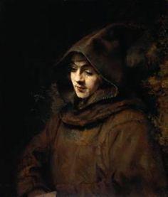 Portret van Rembrandts zoon Titus als monnik